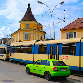 Austria ~ 2016 by Ray Anthony Di Greco - Transportation Trains ( city streets, transportation, trains )