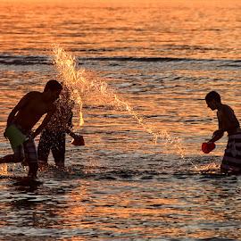 Splash Brothers? by Mark Wirzburger - Babies & Children Children Candids