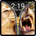 Zipper Lock Screen Lion