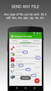 WFS: WA File Sender (Ad Free) - screenshot