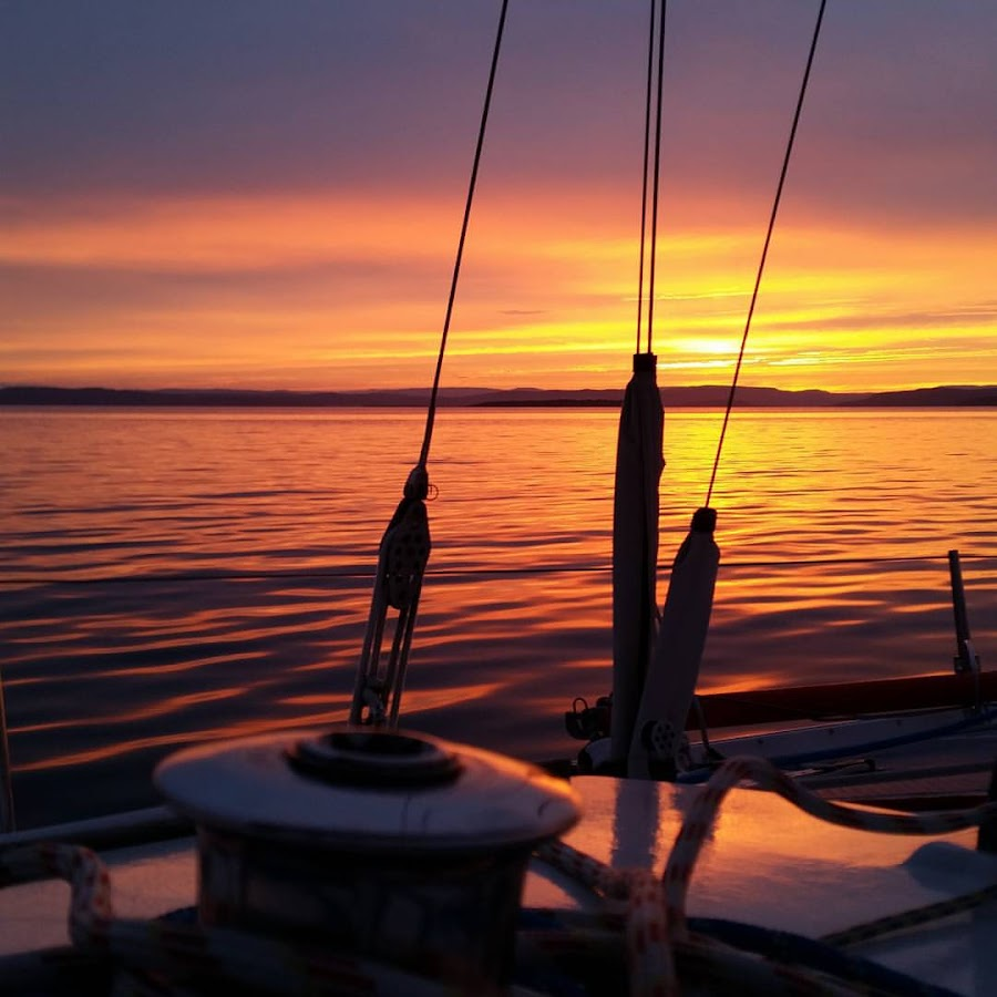 Sunset sailing! by Mads Francke - Transportation Boats