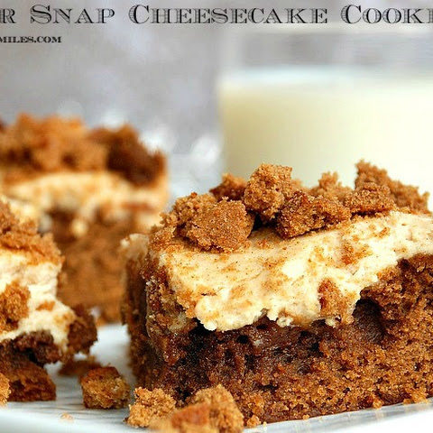 Ginger Snap Cheesecake Cookie Bars