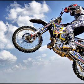 Sky Rider by Craig McNiven - Transportation Motorcycles ( flight, sky, bike, motorcycle, stunt,  )
