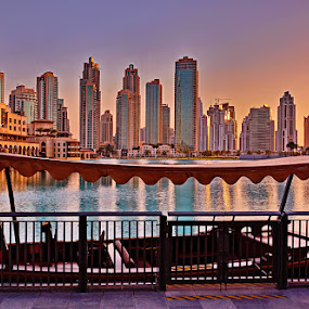 Dubai Fontain Lake by Zdenka Rosecka - City,  Street & Park  Skylines