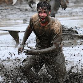 Yuck by Kevin Mummau - Sports & Fitness Other Sports ( mud, splashing, splash, running, go )