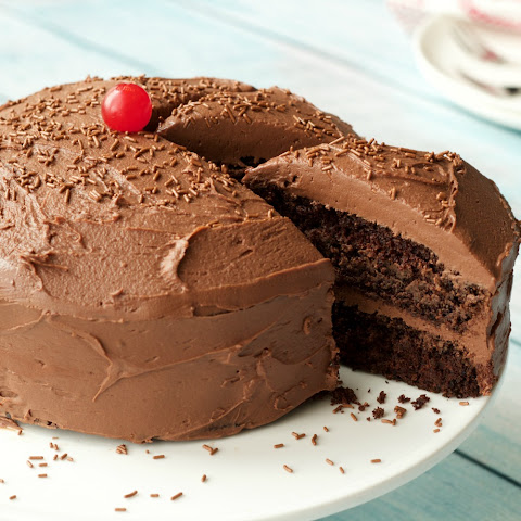 Gluten Free Chocolate Cake with Chocolate Ganache Frosting (Vegan)