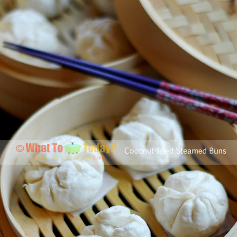 COCONUT-FILLED STEAMED BUNS (about 20 small buns)