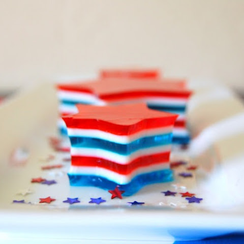 4th of July Jell-O Stars