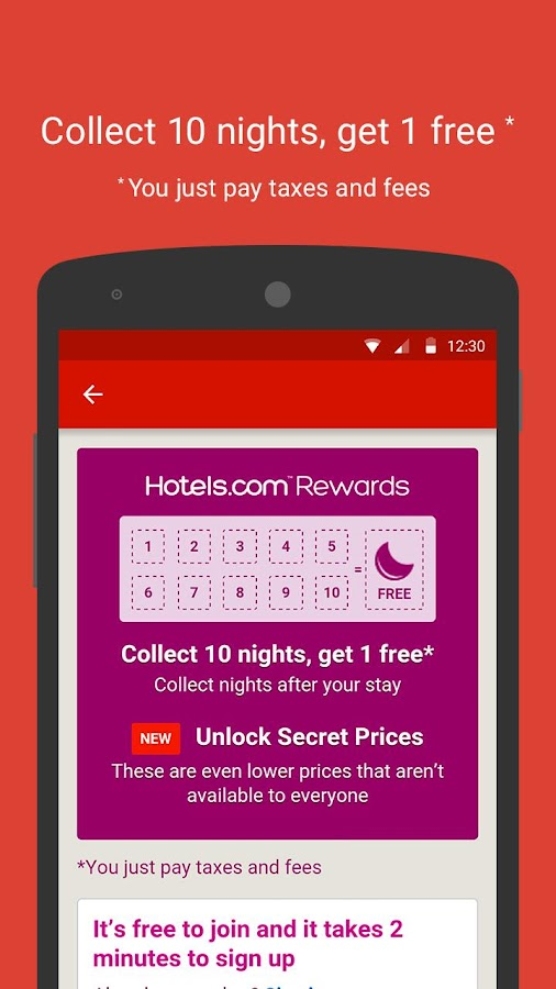 Hotels.com – Hotel Reservation Screenshot