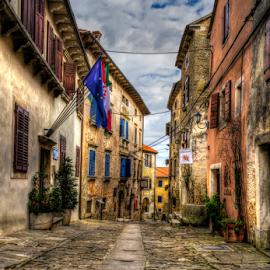 Grožnjan, Croatia by Siniša Biljan - City,  Street & Park  Street Scenes