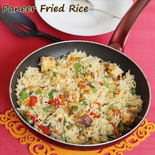 Paneer Fried Rice Recipe, How To Make Paneer Fried Rice