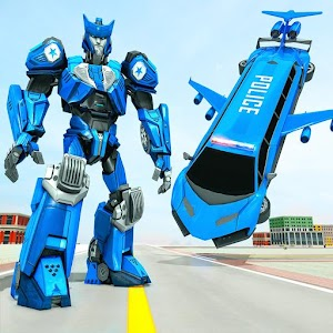 Flying Limo Robot Car Transform: Police Robot Game For PC / Windows 7/8/10 / Mac – Free Download