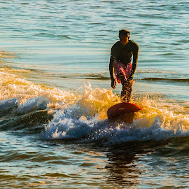 SunKissed by Potz Fernandez - Sports & Fitness Surfing ( water, sunset, waves, beach )
