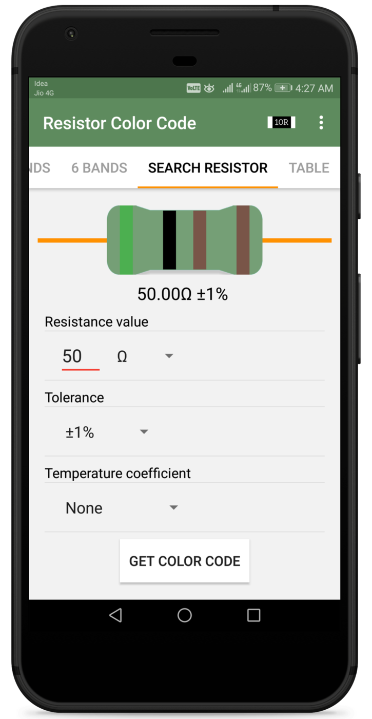 Resistor Color Code And SMD Code Calculator Screenshot 4
