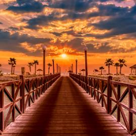 Paradise beach by Mauritz Janeke - Digital Art Places ( sunrises, hdr, dubai, sunset, mauritz, sunrise, beach, access,  )