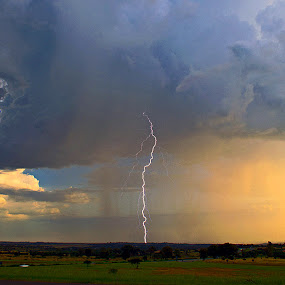 Storm. by Dave Ross - Landscapes Weather ( clouds, lightning, electric, pwcfoulweather, storm, rain )