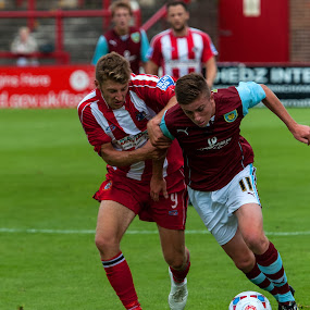 Altrincham Vs Burnley by Michael Ripley - Sports & Fitness Soccer/Association football ( burnley, altrincham, non-league, football, pre-season, friendly, soccer )