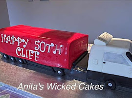 Lorry shaped cake