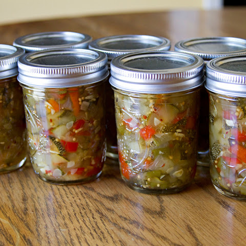 Sweet & Spicy Zucchini Relish for National Can-It-Forward Day