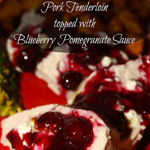 Litehouse Holidazzle Gorgonzola Stuffed Pork Tenderloin with Blueberry Pomegranate Sauce