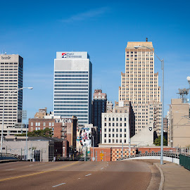 Memphis, Tennessee by Mary Phelps - City,  Street & Park  Skylines ( skyline, memphis, tennessee, light, downtown )