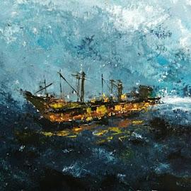 ship by Ahmed Aouita - Digital Art Things ( atlantic, ocean, ship, sealing, sea )