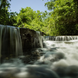 Waterfall by M.H. O'Dell - Landscapes Waterscapes
