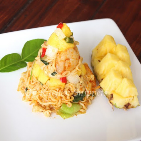 Nyonya Fried Noodles with Jicama and Pineapple Sambal - Day 23