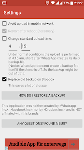 BackUp for Whats - RD1 - screenshot
