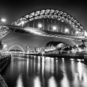 Black and White Tyne Bridge by Davey T - Buildings & Architecture Bridges & Suspended Structures ( quayside, gateshead, newcastle, tyne bridge )