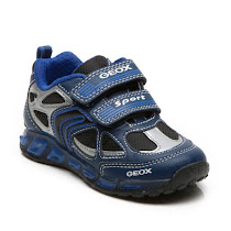 Geox Shuttle Boy Trainer LIGHTS VELCRO