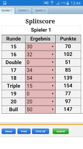 Darts Splitscore best Training - screenshot