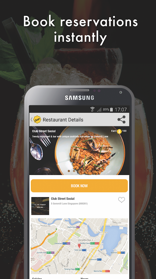 Chope Restaurant Reservations Screenshot 1