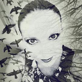 Take me away by Hayley Moortele - Digital Art People ( #digitalart, #people, #blackandwhite )