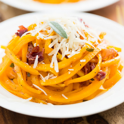Roasted Butternut Noodles with Crispy Prosciutto, Browned Butter, and Sage