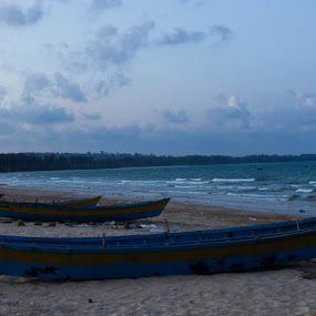 boats by Soumaya Karmakar - Landscapes Beaches ( beach, boats, sea )