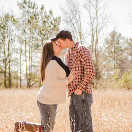 by Teena Emerson - People Couples ( kiss, fall, engagement, fiels, couples )