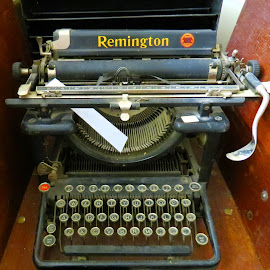 Remington Typewriter  by Rita Goebert - Artistic Objects Business Objects ( remington typewriter; hand operated; manual typewriter; 1951; office model; )
