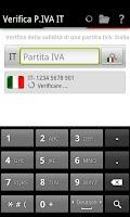 Screenshot of Verifica P.IVA IT