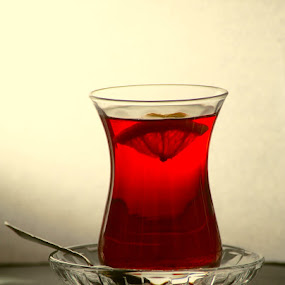 Turkish Tea by Ferhan Mazllami - Food & Drink Alcohol & Drinks ( tea, lemon )