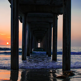 Pier at La Jolla CA by Mike Vaughn - City,  Street & Park  Vistas