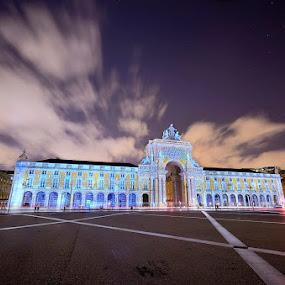 Imagem de luz... by Rui Catarino - Buildings & Architecture Public & Historical ( terreiro do paço, projeções de luz, lisboa, nocturno )