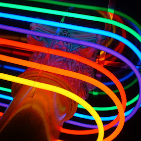 by Bill Foreman - Artistic Objects Other Objects ( lights, red, lt. blue, bright, blue, green, neon, yellow, glow )