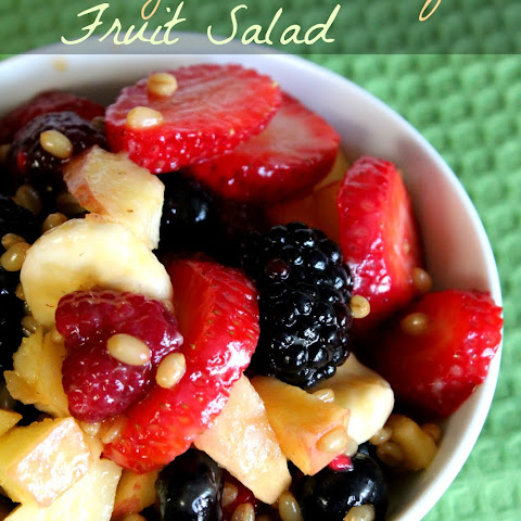Orange Wheat Berry Fruit Salad