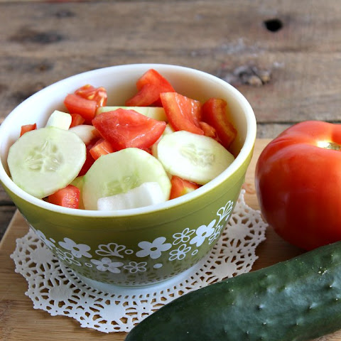 Cucumber Tomato and Onion Salad