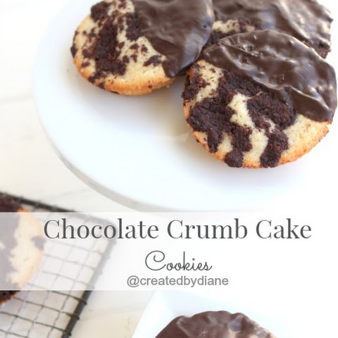 Chocolate Crumb Cake Cookies