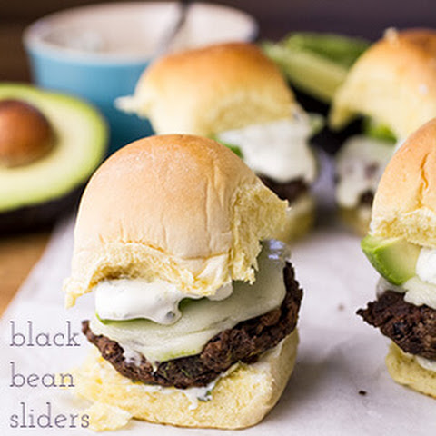 Black Bean Sliders with Cilantro-Lime Crema