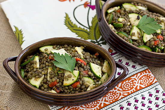 Herbed French Lentil Salad Recipe | Yummly