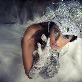 White Avant Garde by Glice Galac - People Fashion ( fashion, women, portrait )