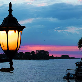 The light by Adriana Popescu - Artistic Objects Other Objects ( night, danube, light )